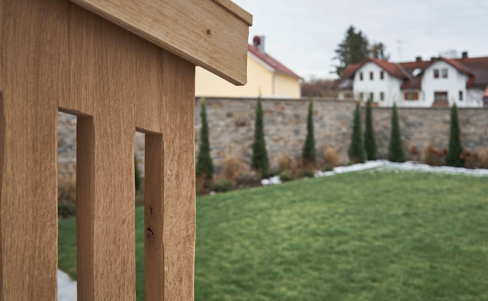 Überdachung für Brennholz