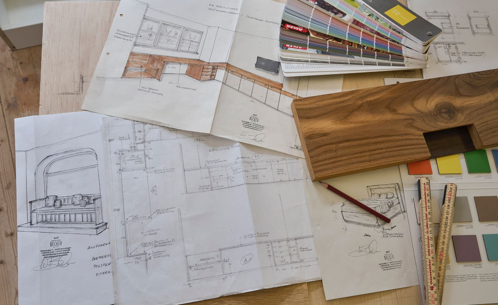 Planung und Bemusterung