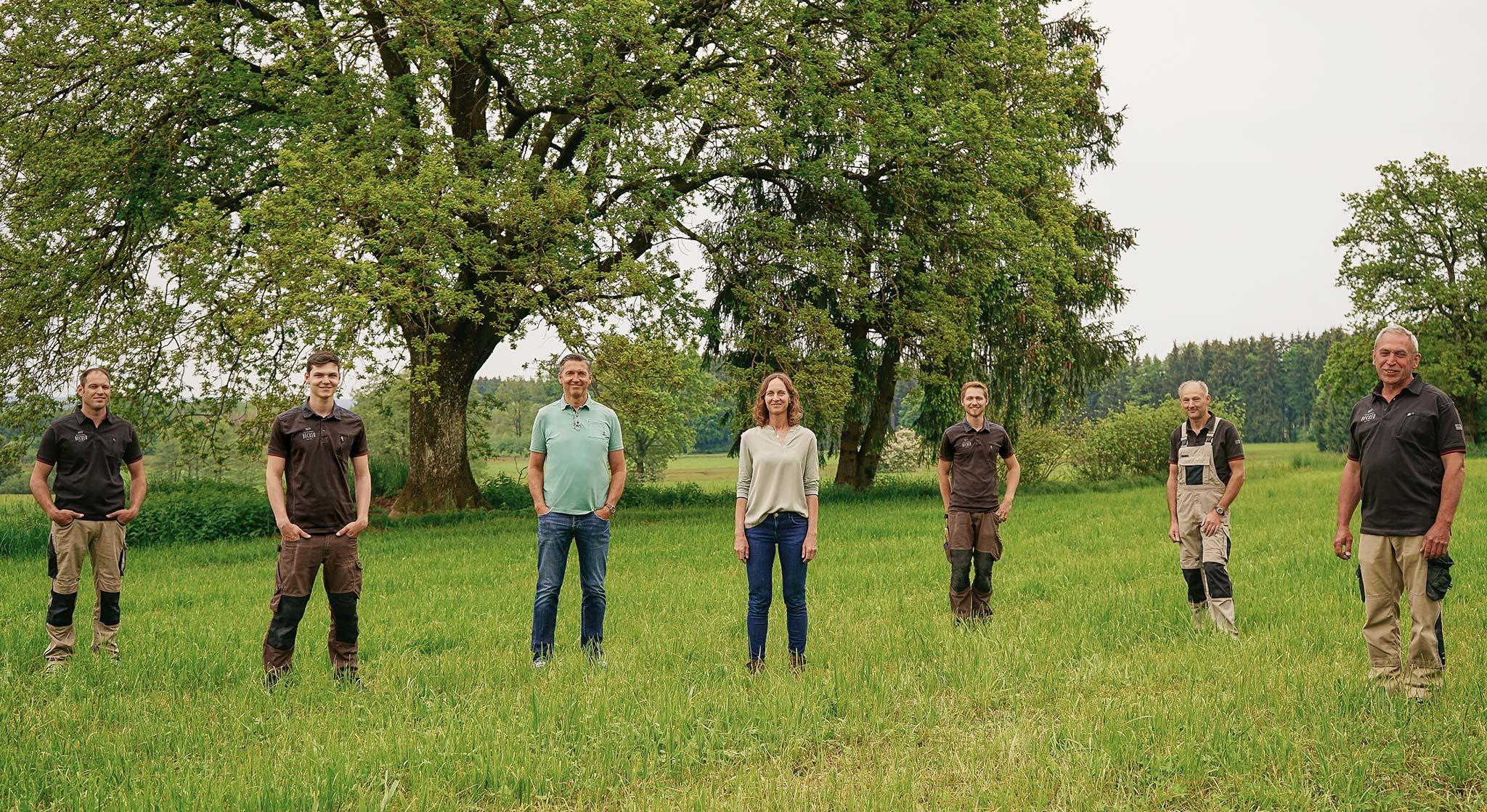Das Team der Schreinerei Becker aus Rammingen bei Mindelheim